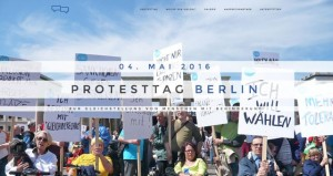 Foto Protesttag Berlin demonstrierende Menschen