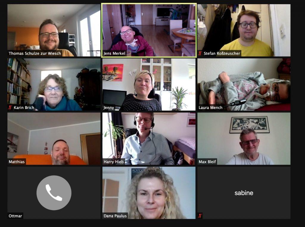 Mitgliederversammlung 2021 Zoom-Teilnehmer